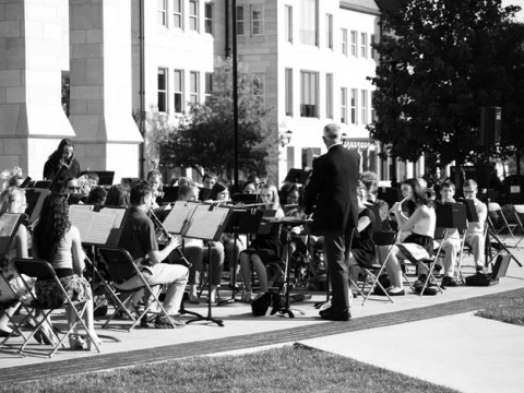 Bradley's bands filled the Alumni Quad with sweet sounds Sept. 19. The performance featured top musicians from Bradley's Music Department.