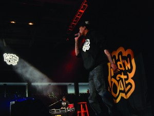 Nick Cannon and his Wild N' Out improv group came to campus last night to perform standup comedy in Renaissance Coliseum. Tickets were sold out by the morning of the performance. Photo by Ethan Herman.