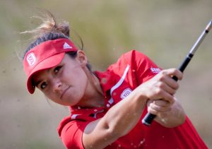Junior Ally Scaccia scored the team-best round Tuesday with a 74 at the Cardinal Cup. Photo via bradleybraves.com.