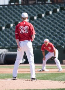 Sophomore Ben Olson will be the Braves' Saturday starter to begin the season. photo via Scout Archives