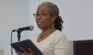 Bradley's English Department hosted a Gwendolyn Brooks poetry read-in Wednesday in Michel Student Center in order to honor the third Poet Laureate of Illinois. photo by Maddie Gehling