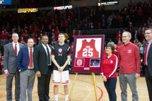 Men's basketball seniors photo gallery